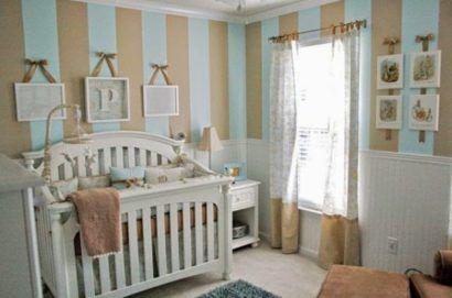 papeis de parede para quarto de bebe masculino com quadros na parede