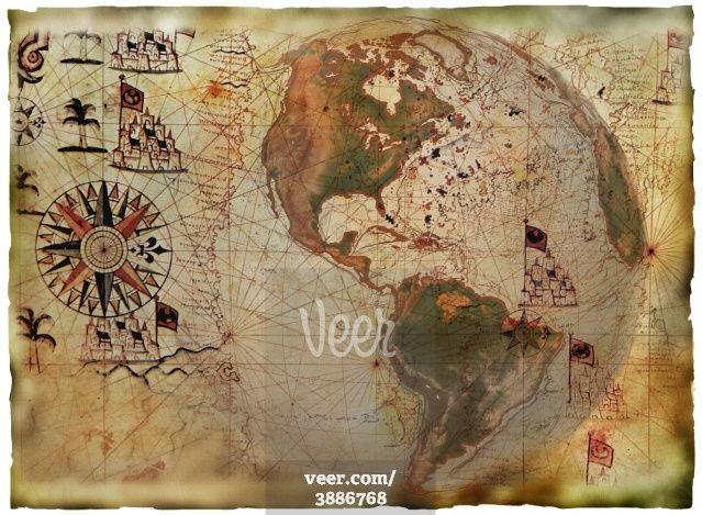 Antique map  Stock Illustration