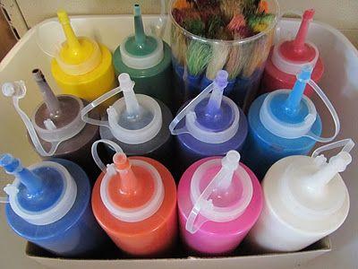 Paint Storage {www.prekandksharing.blogspot.com} ≈≈
