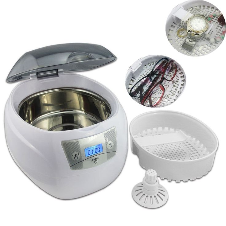 High Quality Ultrasonic Cleaner Jewelry Dental Watch Glasses Toothbrushes Cleaning Tool 750ml Ultrasonic Cleaner Bath 220V