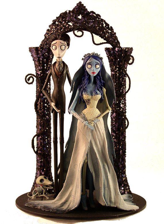 Corpse Bride Wedding Cake Topper Tim Burton by FairytaleAndFantasy