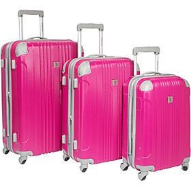 Beverly Hills Country Club Malibu 3 Piece Hardside Spinner Luggage Set    Ending tonight this $500 set is selling for $142.49!  Reviews look good and an adorable color!