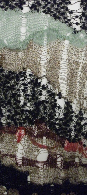 knitwear dress details by Lois Albinson #textures #lace