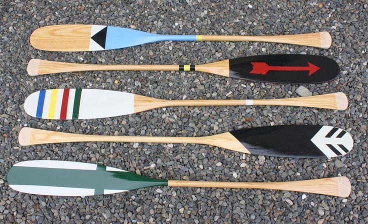Glacier Wear Multi Color Nautical Paddle Canoe Paddle Hand Painted Paddle | eBay