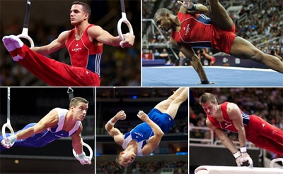 Men's 2012 Olympic Team:  Jake Dalton, Jonathan Horton, Danell Leyva, Sam Mikulak, and John Orozco