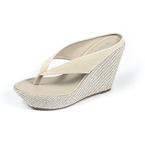 eae31497a8d30 Amazon.com | Shevalues Wedge Sandals for Women Summer Beach Flip ...