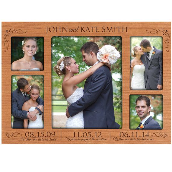 Personalized special dates Picture Frame Custom Engraved photo frame with Important dates & anniversary dates Photo frame Wedding Gift idea