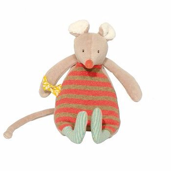 Moulin Roty Biscotte et Pompom Bigoudi Mouse Rattle $29.00 #sweetcreations #baby #toddlers #kids #softtoys #toys #cuddle