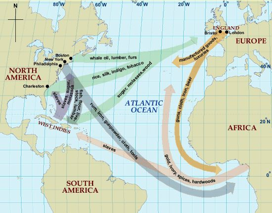 African Slave Trade Routes | Clickhere to see the above pictured map and a little text explaining ...