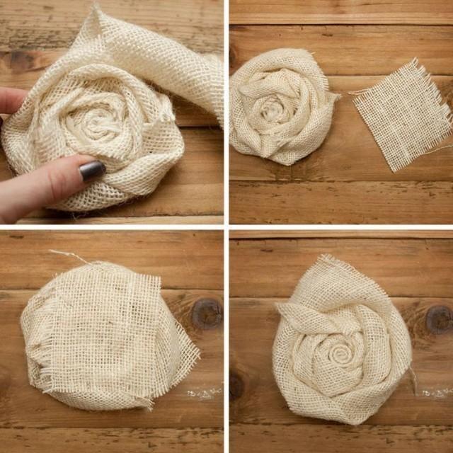 DIY Burlap Flower Wreath — Fercute