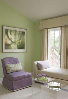 Brown Cream Purple And Sage Green Interior Design