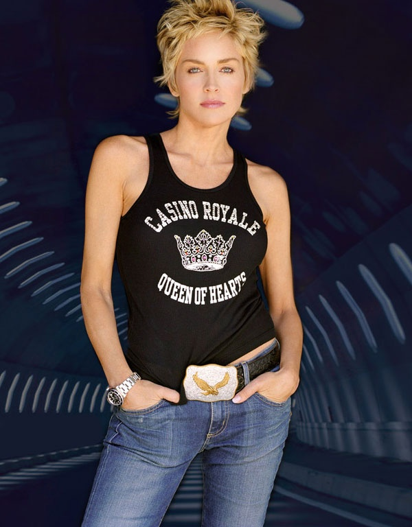 sharon stone pixie haircut..think i am gonna cut it again...get back to my natural color...get rid of that awful color!