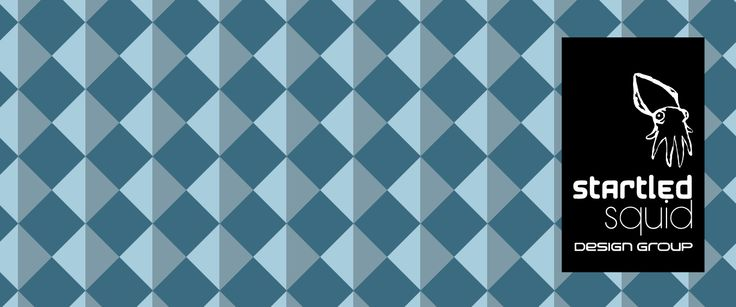 Blue diamond pattern by Startled Squid Design Group