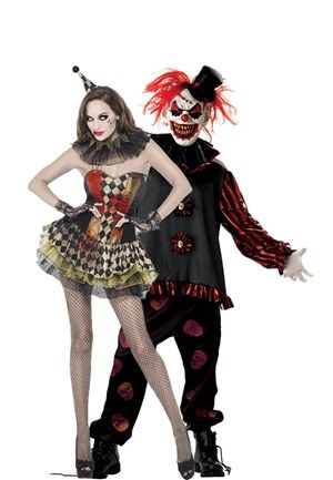 scary clown couples costume - Couple Halloween Costumes Scary