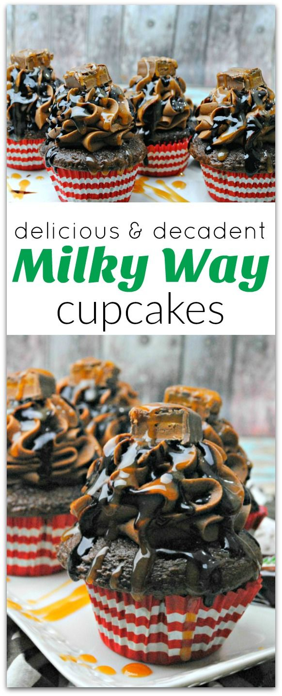 What's not to love about Milky Way Cupcakes? Everyone loves a Milky Way candy bar. Can you imagine how delicious a Milky Way cupcake would be? Pure Heaven.