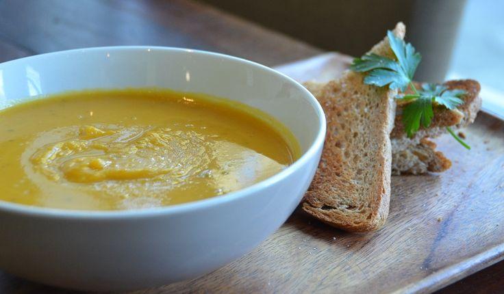 Maple Roasted Pumpkin Soup www.essentialcaterer.com.au