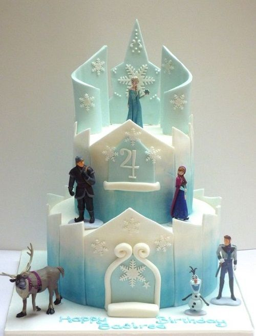 Elsa Castle Frozen Birthday Cake