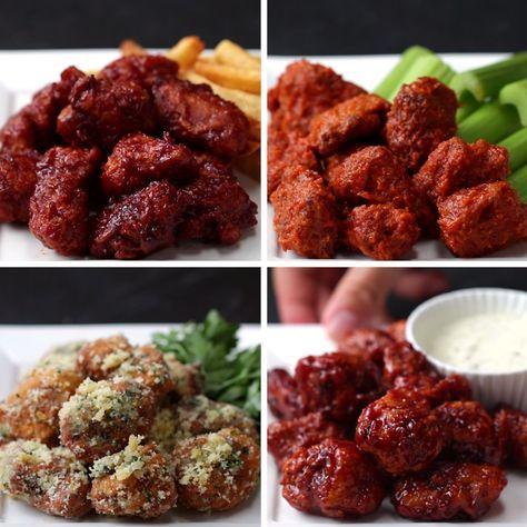 Chicken Poppers 4 Ways | https://lomejordelaweb.es/ Pinterest ^^ | https://pinterest.com/Ilovecocinar/