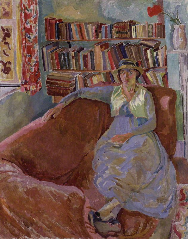 Vanessa Bell (née Stephen), 1917. Duncan Grant (British, 1885-1978). Oil on canvas. National Portrait Gallery, London. Bell (1879-1961), sister of Virginia Woolf, was a painter and model. In London, she lived with her siblings. Their Thursday night 'At Homes' marked the beginning of the Bloomsbury Group. Her association with Roger Fry led her to embrace a more modern style of painting. She formed a lasting relationship with Duncan Grant, the two acting as co-Directors of the Omega Workshop.