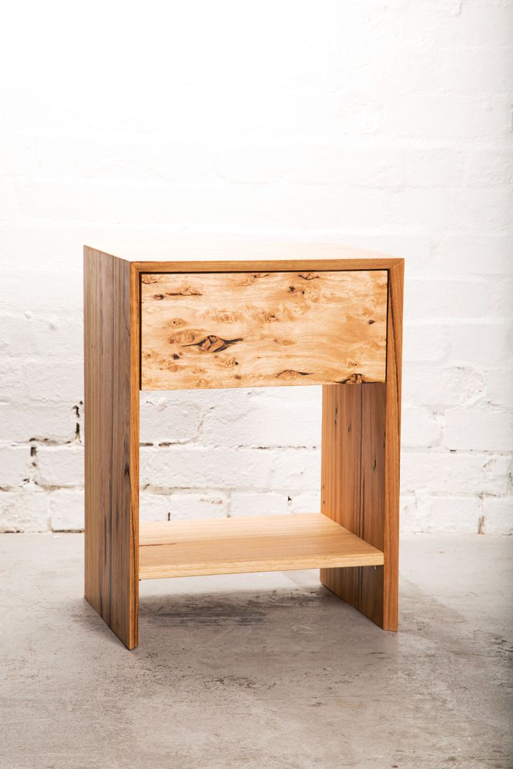 JC - RECYCLED TIMBER BEDSIDE TABLE