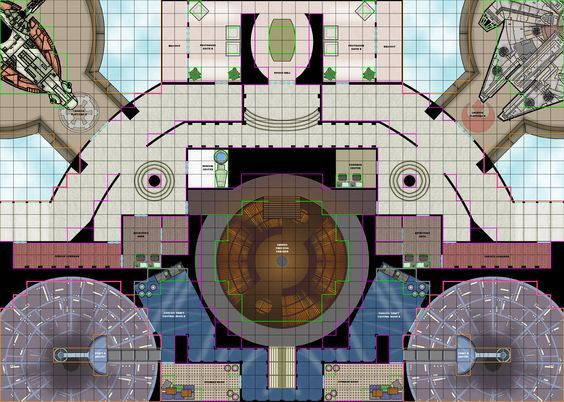 Star Wars RPG Maps | Cloud City Tile Set C: