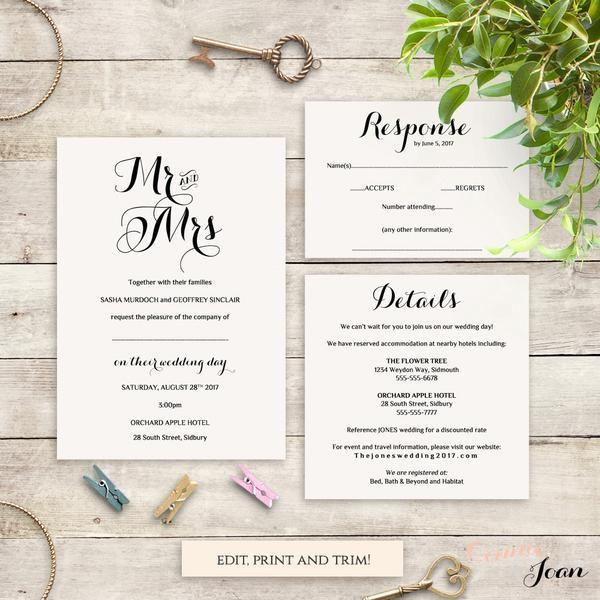 The 20 best Wedding invitations images on Pinterest Wedding ideas - invitation information template