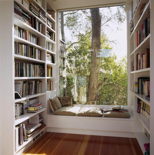 Perfect reading roomReading Area, Home Libraries, Dreams, Windows Seats, Book Nooks, Reading Corner, Reading Nooks, House, Reading Spots