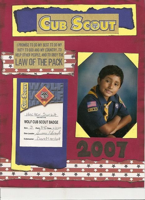 Wolf Cub Scout layout page