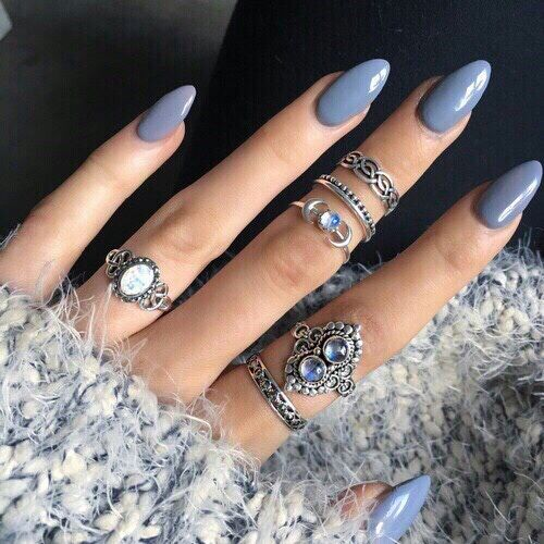 cobalt blue stiletto nails - Google Search