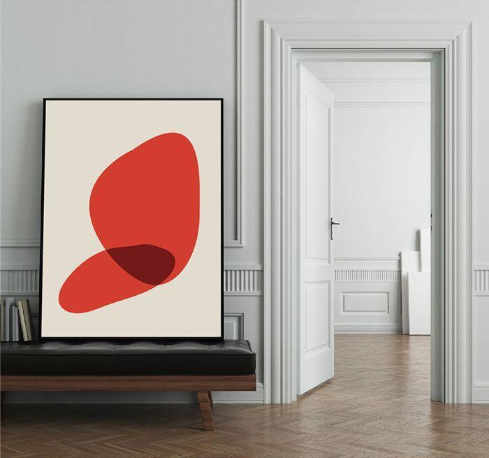 Schöne verwendung von rot | Moderne Kunst | Innen…