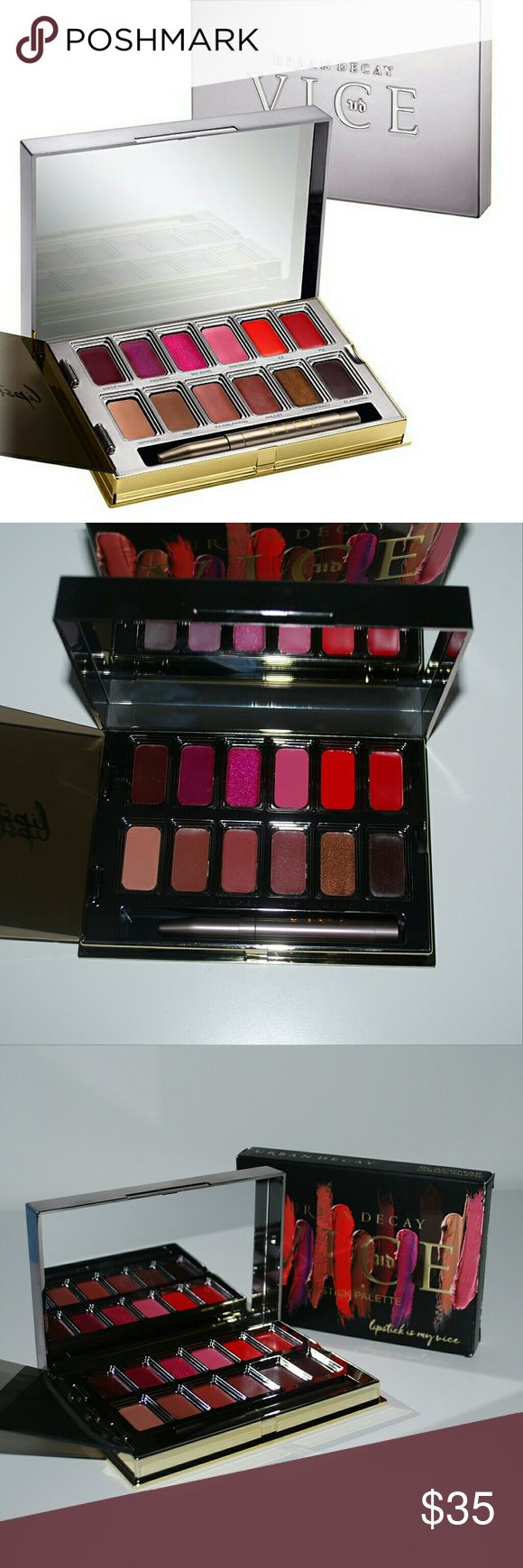 Urban Decay Vice Lipstick Palette in Blackmail 100 % authentic guaranteed! Urban Decay Makeup Lipstick