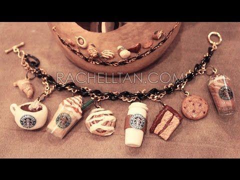how to: Starbucks polymer clay charm bracelet