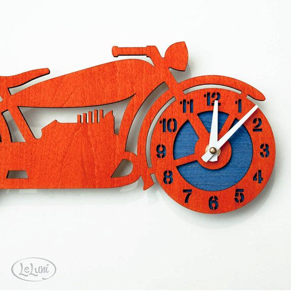 The Brando retro motorcycle a designer wall mounted by LeLuni, $52.00