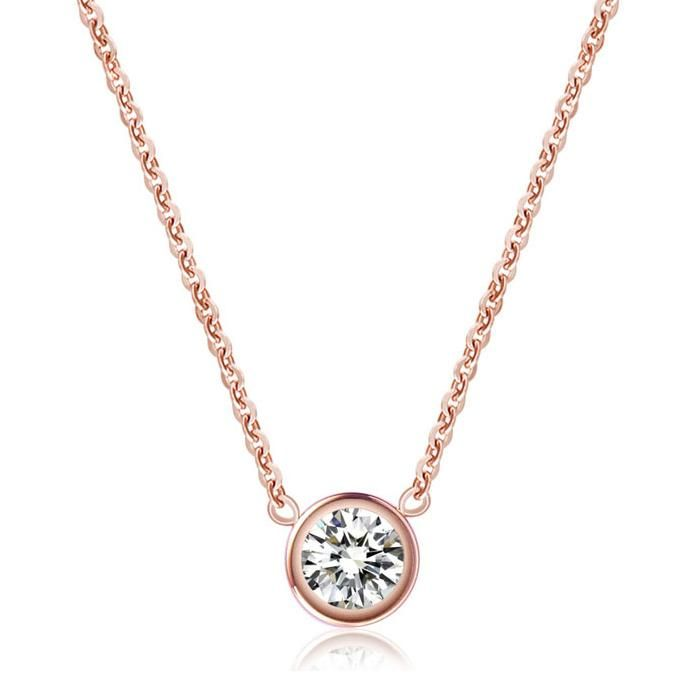 Was picturing something simple like this for bridesmaids, but not with real gold/diamonds.  Wholesale Single rose gold color gold diamond necklace female short-chain necklace chain Korea clavicle titanium steel jewelry gift, Free shipping, $42.09/Piece | DHgate Mobile