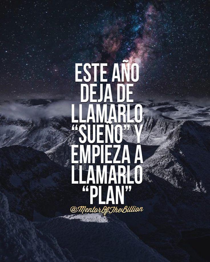 Deja de llamarlo sueño y empieza a llamarlo plan. Inspiración para emprendedoras. #frases #objetivos