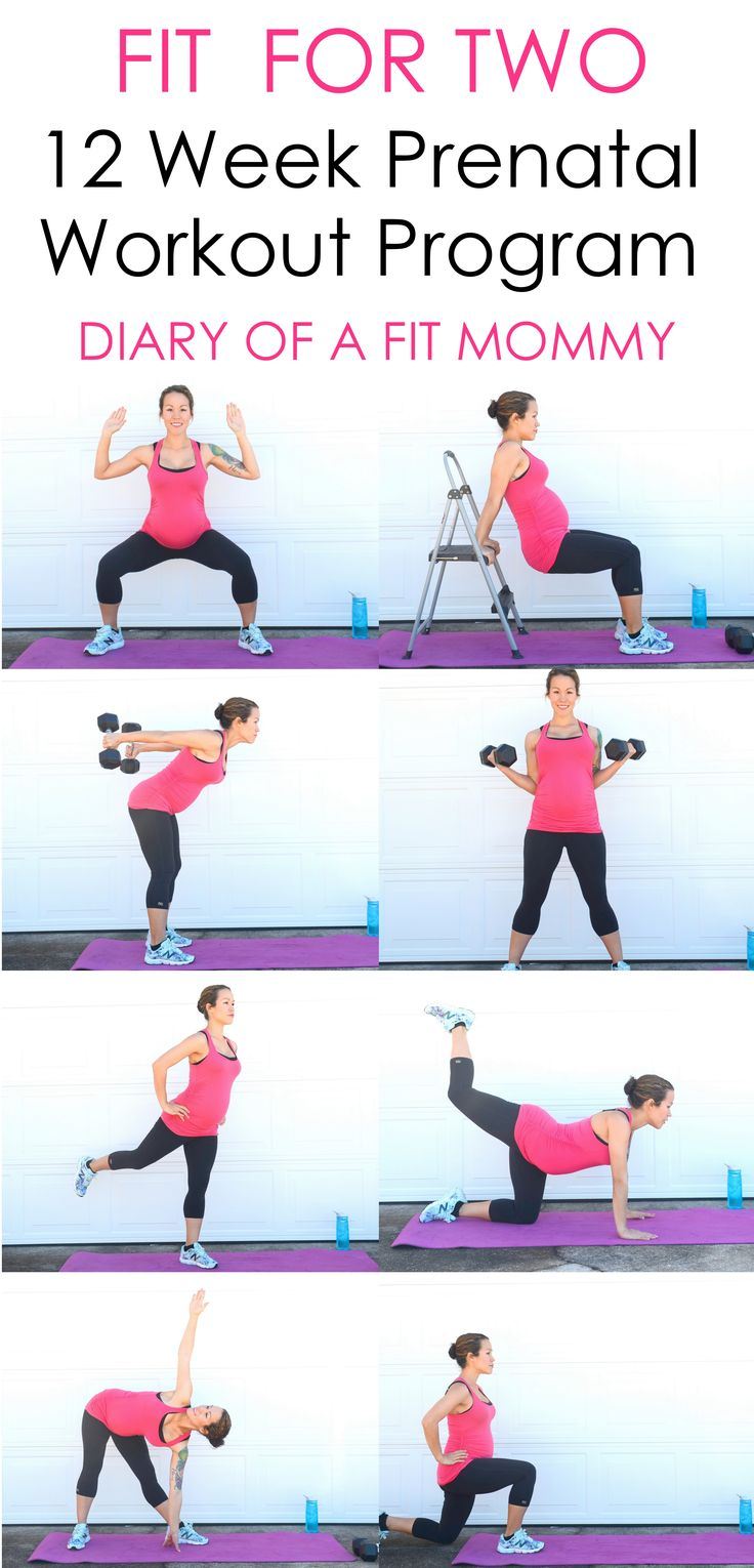 12 Week Prenatal Workout Program-no gym needed! #pregnancy