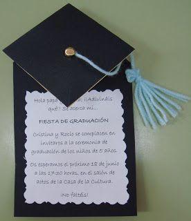 Plastificando ilusiones: Invitación graduación Más