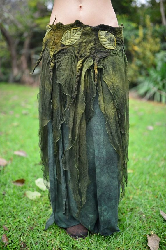 I would just wear this all the time. Except when I felt like wearing black. Nuno Felt Chiffon Melted Pixie Woodland Nymph Forest Fairy by frixiegirl