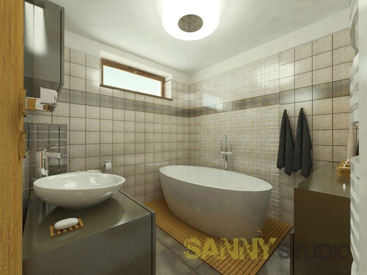 Návrh kúpeľne do rodinného domu, Nitra.