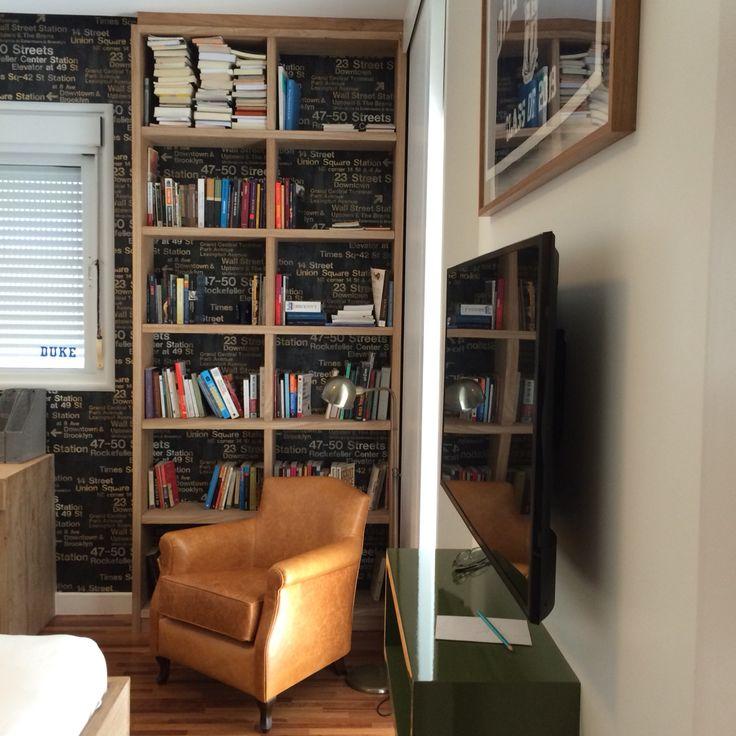 Estantes, quarto de menino, home Office