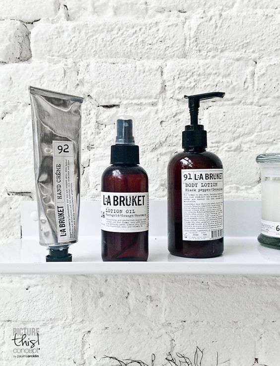 Originating in Varberg, Sweden, La Bruket is a brand created to nourish and protect your skin, especially if you are a fan of the great outdoors and therefore the surf, sail, sunbathing lifestyle.  More La Bruket here: http://www.labruket-usa.com/pages/about-us #ilovebathroomideas #inspiration #dreamhouse #apartmenttherapy #interiorinspiration #liveauthentic #giftideas #bathroompics