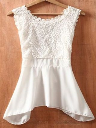 lace peplum top... highlights the smallest part of you to accent those curves without pointing out muffin top!