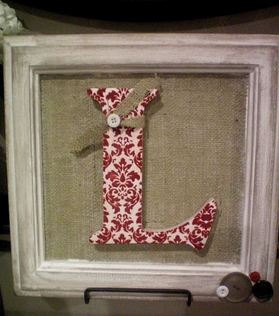 This would be a cute idea to use up some of the leftover burlap from the wedding.