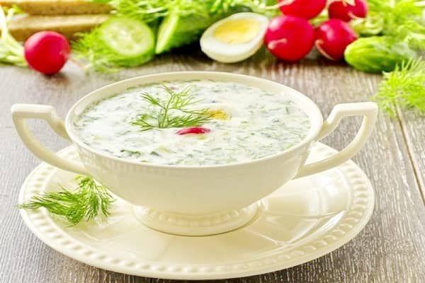 Окрошка на йогурте с минеральной водой пошаговый рецепт с фото