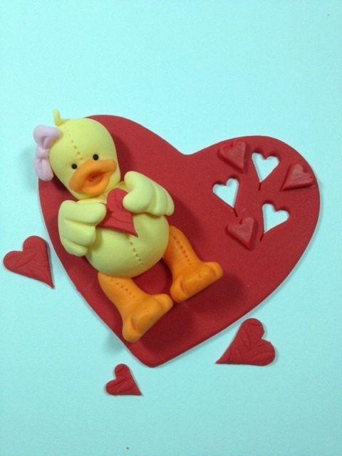 Duck cake topper via Etsy.