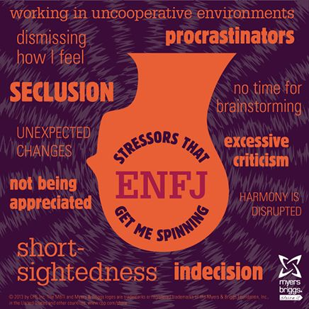 Stressors that get me spinning: check out this ENFJ stress head! #mbti #myersbriggs