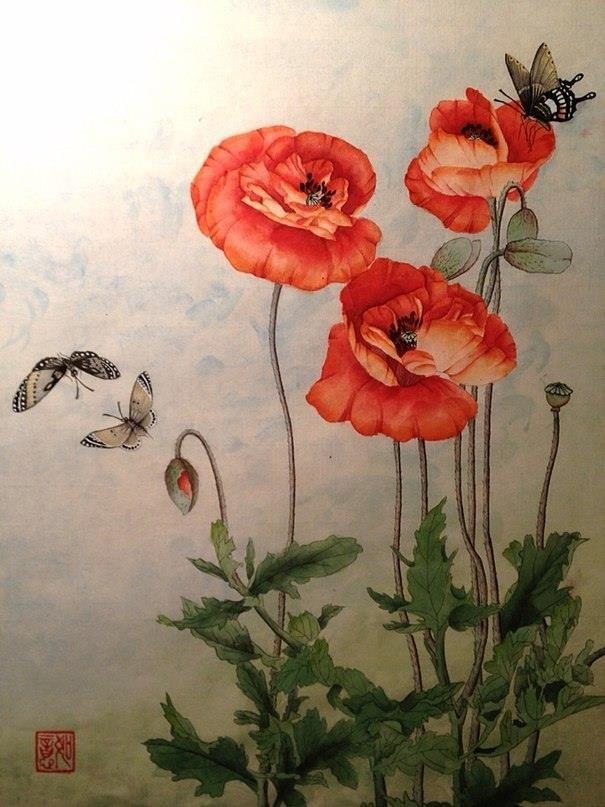 Китайская живопись Гохуа, стиль Гунби