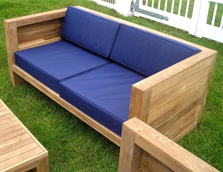 asmara teak garden sofa with cushions
