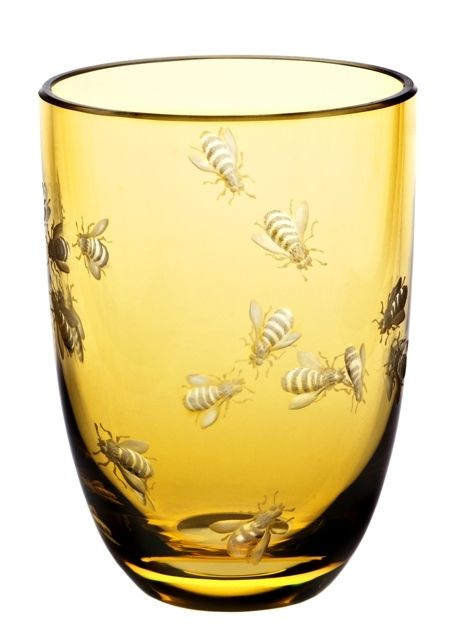 The Theresienthal Planet Earth Bees tumbler in tangerine, as featured in the Holiday 2013 issue, is true art. The Planet Earth glasses are illustrations of philosophical thoughts, expressed not in words, but with shape, colors, cut or engraved pictures | domino.com