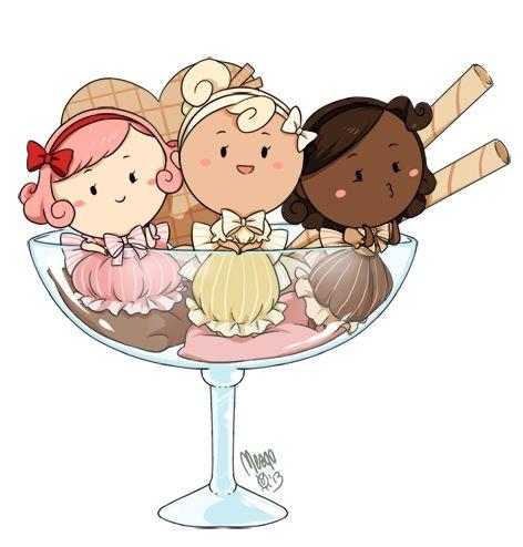 20 best food chibis images on pinterest anime art - Ice cream anime girl ...